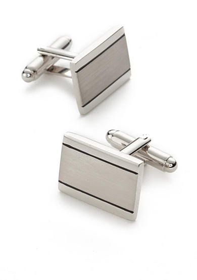 Saddlebred® Shiny Brushed Rhodium Cufflinks