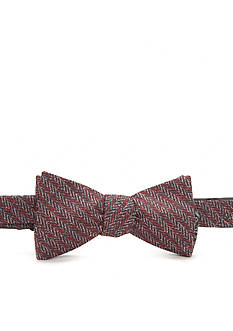 Saddlebred® Self Tied Reversible Hugh Herringbone and Geo Bow Tie