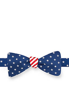 Saddlebred Reversible USA American Flag Pre-tied Bow Tie