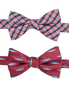 Saddlebred Pike Pre-Tied Two Bow Ties in a Box Set