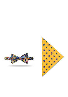 Saddlebred Pre-Tied Pawley Neat Bow Tie Pocket Square Set