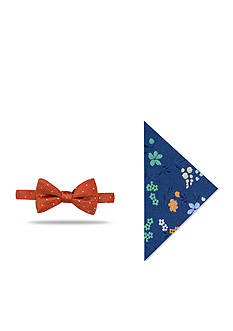 Saddlebred Pre-Tied Parris Dot Bow Tie Pocket Square Box Set