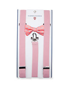 Saddlebred Pre-Tied Reef Dot Bow Tie & Suspender Boxed Set