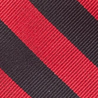 Men: All Neckties Sale: Black/Red Saddlebred College Rubgy Stripe Tie