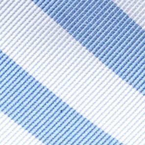 Men: All Neckties Sale: Blue/White Saddlebred College Rubgy Stripe Tie