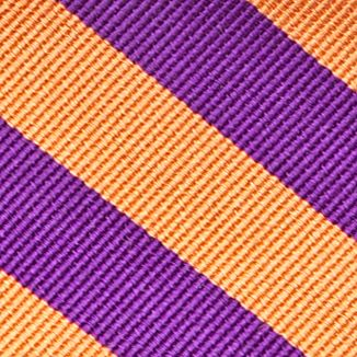 Young Men: Saddlebred Accessories: New Orange Saddlebred College Rubgy Stripe Tie