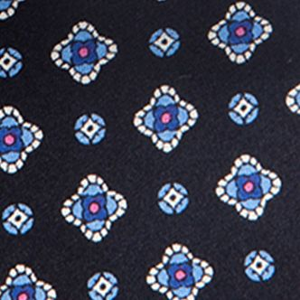 Guys Accessories: Navy Saddlebred Nice Print Neat Tie