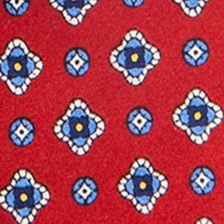 Guys Accessories: Red Saddlebred Nice Print Neat Tie