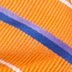 Bow Ties for Young Men: Orange Saddlebred Pre-Tied Grand Rapids Stripe Bow Tie