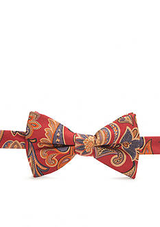 Saddlebred Pre-tied Two Sided Hadges Paisley and Medallion Bow Tie