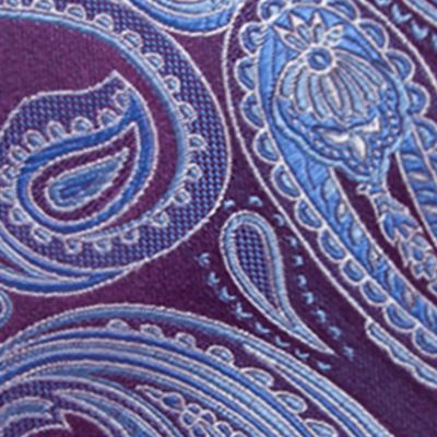 Young Men: Saddlebred Accessories: Eggplant Saddlebred Salford Paisley Tie