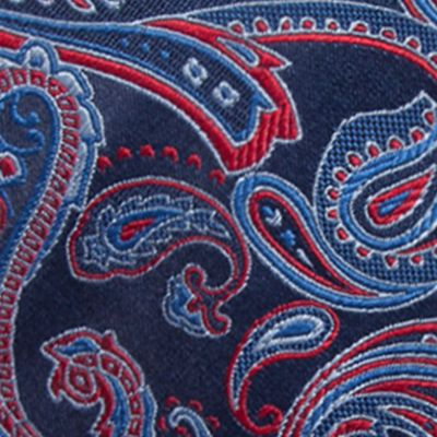 Men: All Neckties Sale: Navy/Red Saddlebred Salford Paisley Tie