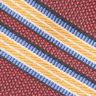 Green Tie: Wine Saddlebred Jagger Stripe Tie