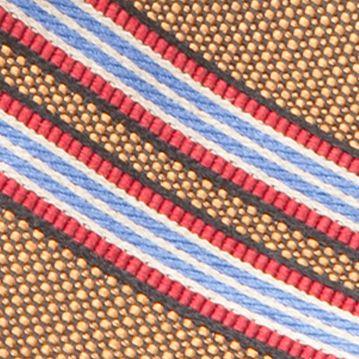 Green Tie: Yellow Saddlebred Jagger Stripe Tie