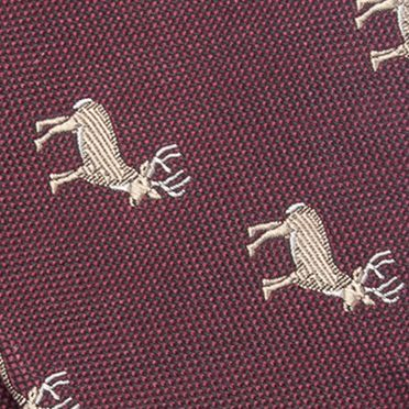 Bow Ties for Men: Wine Saddlebred Hinton Deer Bow Tie