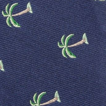Bow Ties for Men: Navy Saddlebred Pre-Tied Shady Palm Tree Bow-Tie