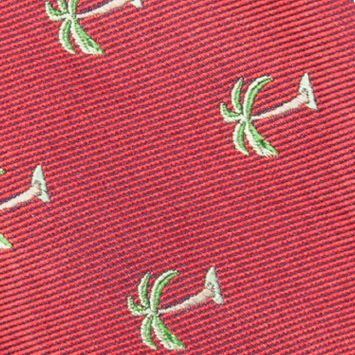 Bow Ties for Young Men: Red Saddlebred Pre-Tied Shady Palm Tree Bow-Tie