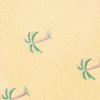 Bow Ties for Young Men: Yellow Saddlebred Pre-Tied Shady Palm Tree Bow-Tie