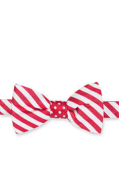 Saddlebred® Self Tie Reversible Christmas Candy Cane Bowtie