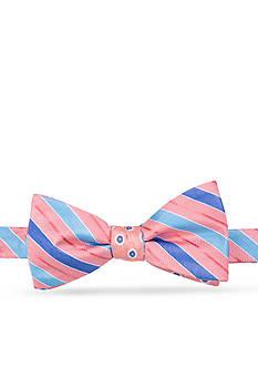 Saddlebred Sea Lydie Stripe Dot Bow Tie