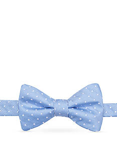 Saddlebred® Pre-Tied Reversible Narrow Dot and Stripe Bow Tie