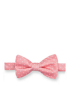 Saddlebred Pre-Tied Reversible Narrow Dot and Stripe Bow Tie