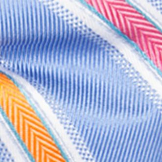 Bow Ties for Young Men: Medium Blue Saddlebred Pre-Tied Salty Stripe Bow-Tie