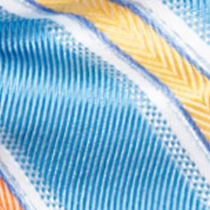 Bow Ties for Young Men: Aqua Saddlebred Pre-Tied Salty Stripe Bow-Tie