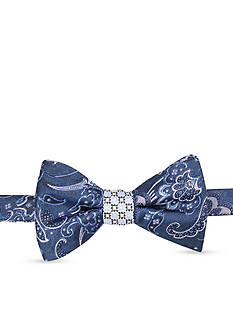 Saddlebred® Lin Paisley Neat Bow Tie