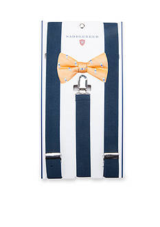 Saddlebred Pre-Tie Ironclad Lighthouse Bow Tie & Suspender Boxed Set
