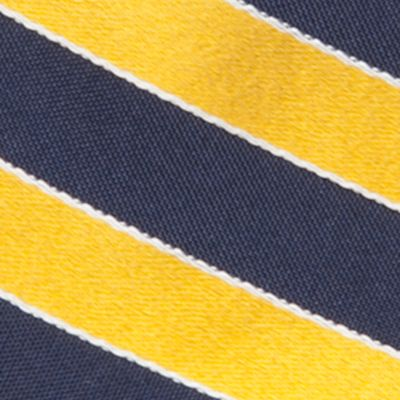 Mens Extra Long Ties: Yellow Saddlebred Extra Long Salem Navy Stripe Tie