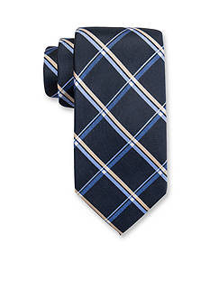 Saddlebred® Extra Long Foliage Grid Print Tie