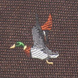 Mens Ties: All Neckties: Brown Saddlebred Ifrane Duck Novelty Tie
