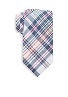 Saddlebred® Asher Madras Cotton Plaid Tie