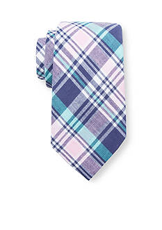 Saddlebred Andre Cotton Plaid Tie