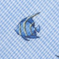 Young Men: Neckties Sale: Blue Saddlebred Guppy Fish Tie