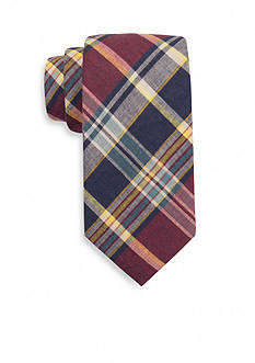 Saddlebred® Dice Madras Plaid Tie
