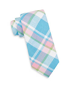 Saddlebred® Sea Aberdeen Madras Plaid Tie