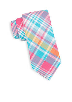 Saddlebred® Sea Aidan Madras Plaid Tie