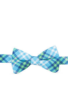 Saddlebred Pre-Tied Sea Aaron Plaid Bow Tie