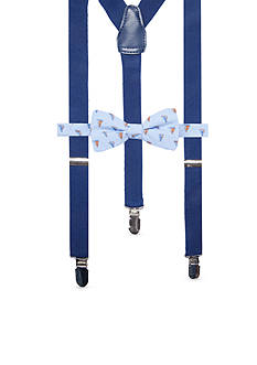 Saddlebred Pre-Tied Gusty Sailboat Bow Tie & Suspender Boxed Set