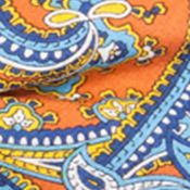 Men: Neckties Sale: Orange Saddlebred Inlet Paisley Bow Tie & Suspender Boxed Set