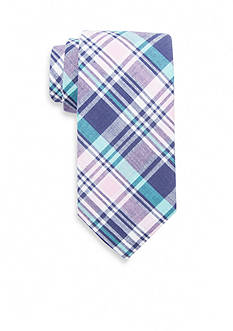 Saddlebred® Extra Long Andre Plaid Tie