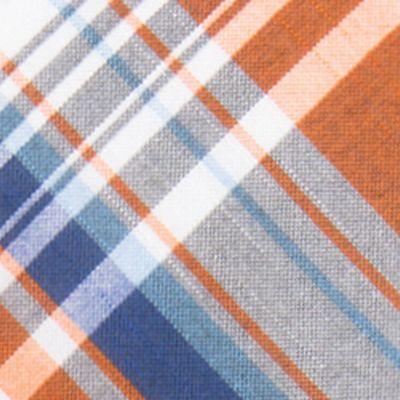 Red Ties: Orange Saddlebred Cliffton Plaid Tie
