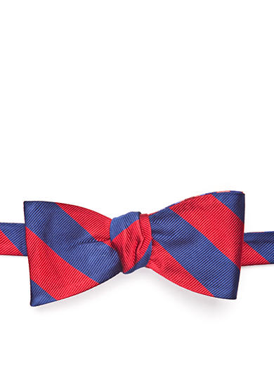 Saddlebred® Reversible Textured Rugby Stripe Bow Tie