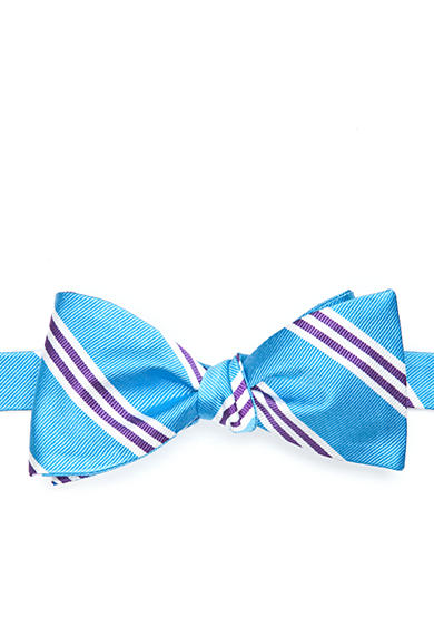 Saddlebred® Three Bar Repp Stripe Bow Tie
