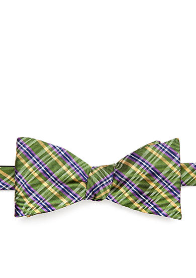 Saddlebred® Old School Plaid Bow Tie