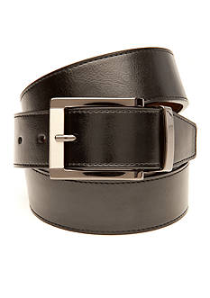 Saddlebred® Big & Tall Leather Reversible Dress Belt