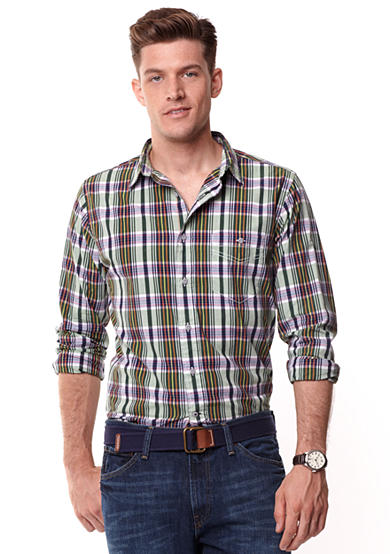 Nautica Jeans Company Long Sleeve Plaid Shirt