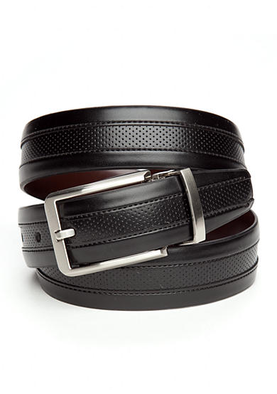 Geoffrey Beene Gun Metal Reversible Belt